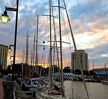 Schooners Docked at Sunset    (1424109466VA) by photroen