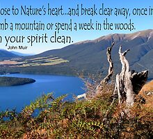 Keep close to Nature's Heart...Wash your spirit clean (John Muir) by MHen