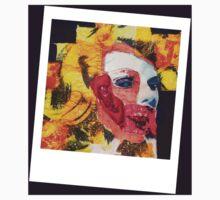 Marilyn Patchwork Polaroid One Piece - Short Sleeve