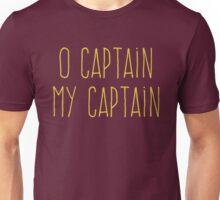 O Captain, My Captain (Handwriting Yellow) Unisex T-Shirt