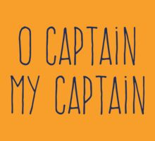 O Captain, My Captain (Handwriting Blue) T-Shirt