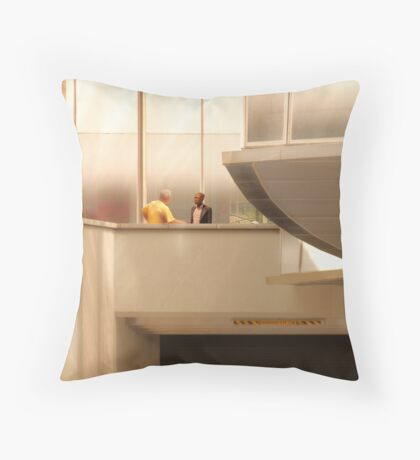 Discussion on 31st Street Throw Pillow