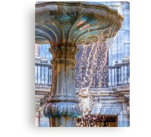 Over Flowing Fountain Canvas Print