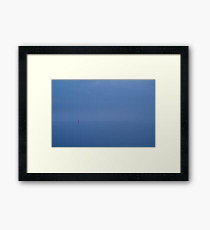 Red Channel Light, Misty Twilight, Queenscliff Framed Print