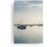 Misty Morning, Swan Bay Queenscliff Canvas Print