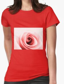 Rose close up Womens Fitted T-Shirt