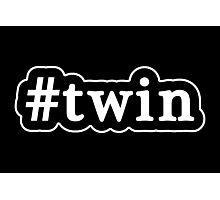 Twin - Hashtag - Black & White Photographic Print