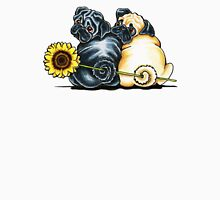 Sunny Pugs Womens Fitted T-Shirt