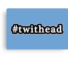 Twithead - Hashtag - Black & White Canvas Print