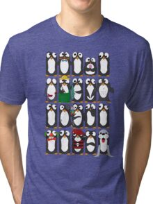 Here Be Penguins Tri-blend T-Shirt