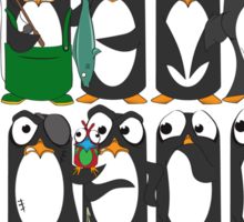 Here Be Penguins Sticker