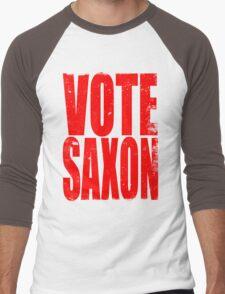 VOTE SAXON (the Master) Men's Baseball ¾ T-Shirt