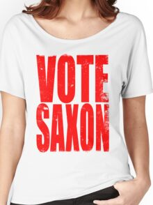 VOTE SAXON (the Master) Women's Relaxed Fit T-Shirt