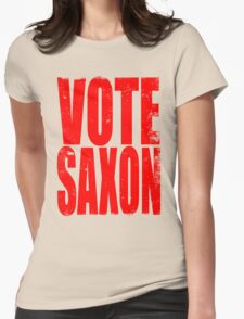 VOTE SAXON (the Master) Womens Fitted T-Shirt