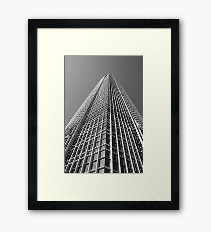 Looking Up v1 - IFC2, Hong Kong Framed Print