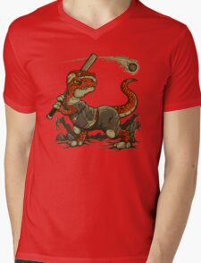 Fight The Asteroid Mens V-Neck T-Shirt
