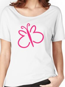 Pink butterfly Women's Relaxed Fit T-Shirt