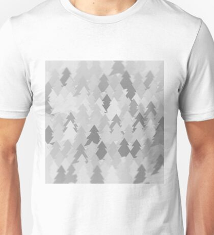 Winter white forest. Spruce forest illustration. Nature background of trees. Green trees texture. Wood drawings. Wanderlust. Adventure and nature Unisex T-Shirt