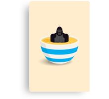 Gorilla In Custard Canvas Print