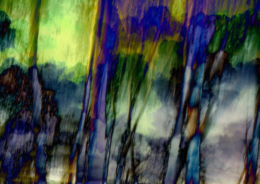 Blue Green Landscape by deniselees