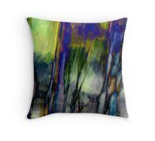 Blue Green Landscape Throw Pillow