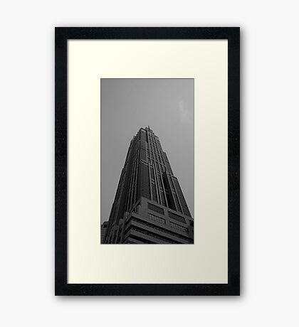 Looking Up v3 - Hong Kong New World Tower, Shanghai Framed Print