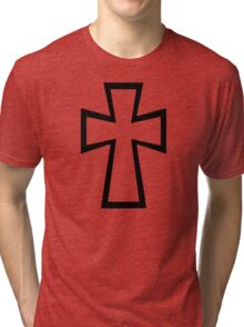 Black cross Tri-blend T-Shirt