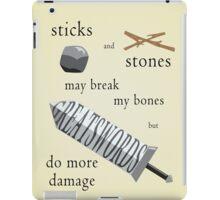 Greatswords Do More Damage-Dark on Light iPad Case/Skin