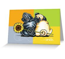 Smile, They're Pugs Greeting Card