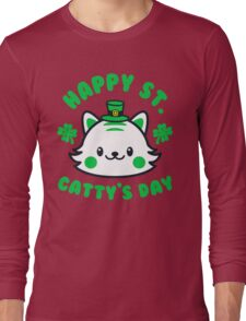 St. Patricks Day - Happy St. Cattys Day  Long Sleeve T-Shirt