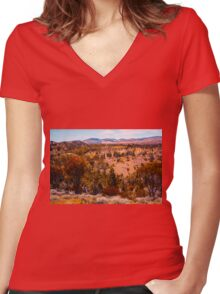 Beautiful Hills Women's Fitted V-Neck T-Shirt