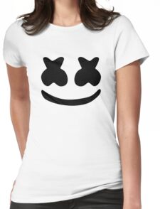 Marshmello - Black Design Womens Fitted T-Shirt
