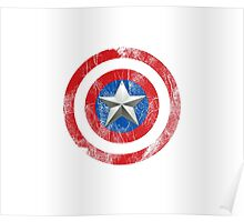 Cap America Shield with star Poster
