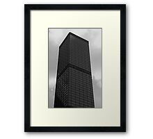 Looking Up v5 - Cheung Kong Centre, Hong Kong Framed Print