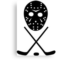 Ice Hockey Sticks and Mask Canvas Print