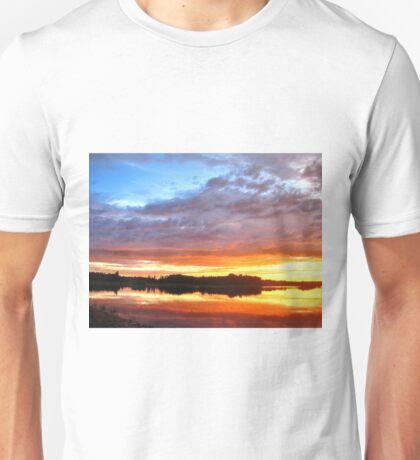 Colors Over Winagami Lake Unisex T-Shirt
