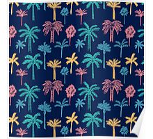 Tropical Palm Tree Pattern Poster