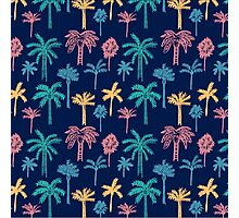 Tropical Palm Tree Pattern Photographic Print