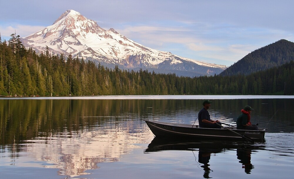 Fishing On Lost Lake by Randy Richards