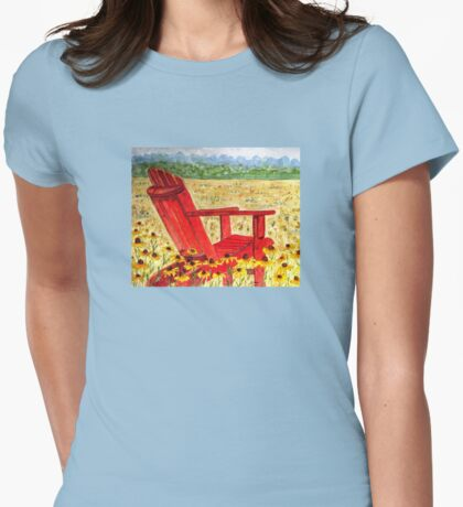 Meet Me In The Meadow Womens Fitted T-Shirt