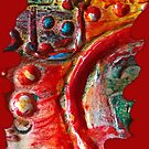 RED STEAMPUNK TEXTURES by Nicola Furlong