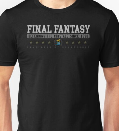 Final Fantasy - Vintage - Black Unisex T-Shirt