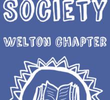 Society Crest (Slate Blue) Sticker
