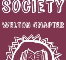 Society Crest (Burgundy) Sticker