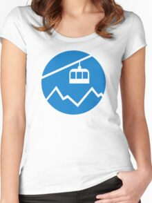 Cable car Women's Fitted Scoop T-Shirt