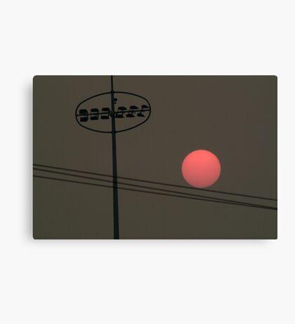 Smoke at Sunset Canvas Print
