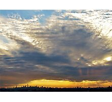 Heavy sunset clouds in New York City  Photographic Print