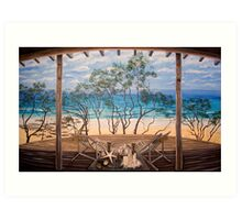 the beach house @ Forresters Art Print