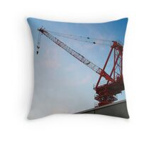 Men at Work Throw Pillow
