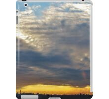 Heavy sunset clouds in New York City  iPad Case/Skin